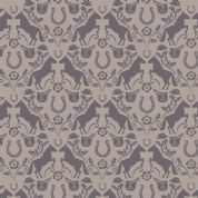 Lewis & Irene Farley Mount - 5568  - Brown Horses on Taupe - A225.1 - Cotton Fabric
